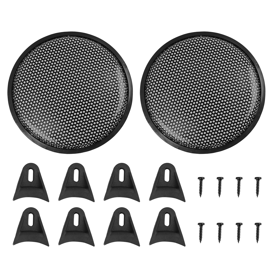 uxcell 10 Inches 2pcs Grill Cover MeshProtector Car Speaker Cover Woofer Subwoofer Grill For Honda Nissan