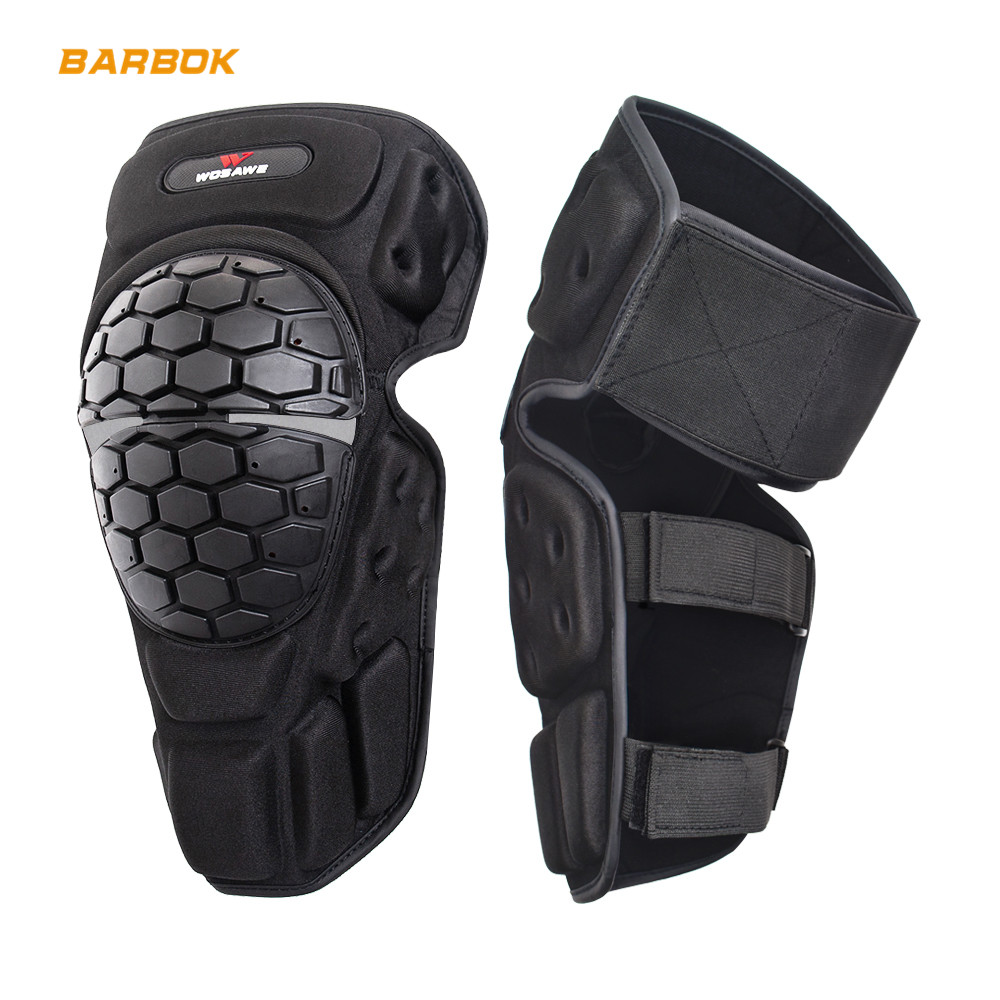 WOSAWE Motorcycle Knee Protector Reflective Snowboard Roller Motorcross Riding Brace Guard Hockey Protective Gear Armor