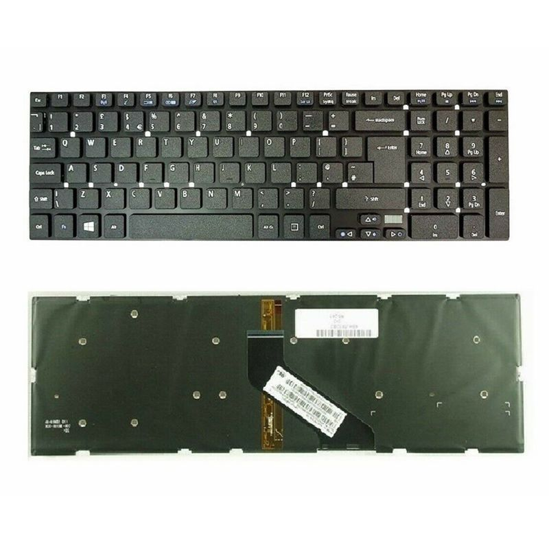 GZEELE NEW For  Acer V3-772 V3-772G Laptop Keyboard UK With Backlight Backlit V3-731 V3-771 V3-571 V3-551G V3-531 V3-551 5830 G