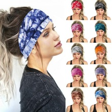 Women Headpiece Stretch 2020 Turban Bohemian Hair Accessories Headwear Yoga Run Bandage Hair Bands Headbands Wide Headwrap