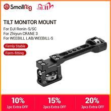 SmallRig Adjustable Tilt 180 Degree Monitor Mount for DJI Ronin S/Ronin SC/Zhiyun Crane 3/ Weebill Lab Screen EVF Mount  2386