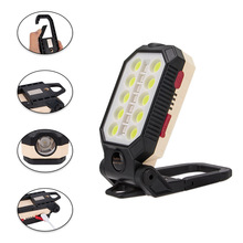 LED Flashlight with Battery Indicator Multi Function Folding Work Light Folding Work Light 4 Modes 4400mAh Battery