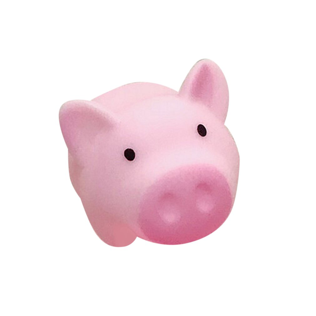 Cartoon Soft Cute Pink Pig Tricking Children Toys Venting Pig Squeezing Music Pinch Called Decompression Vent Toy