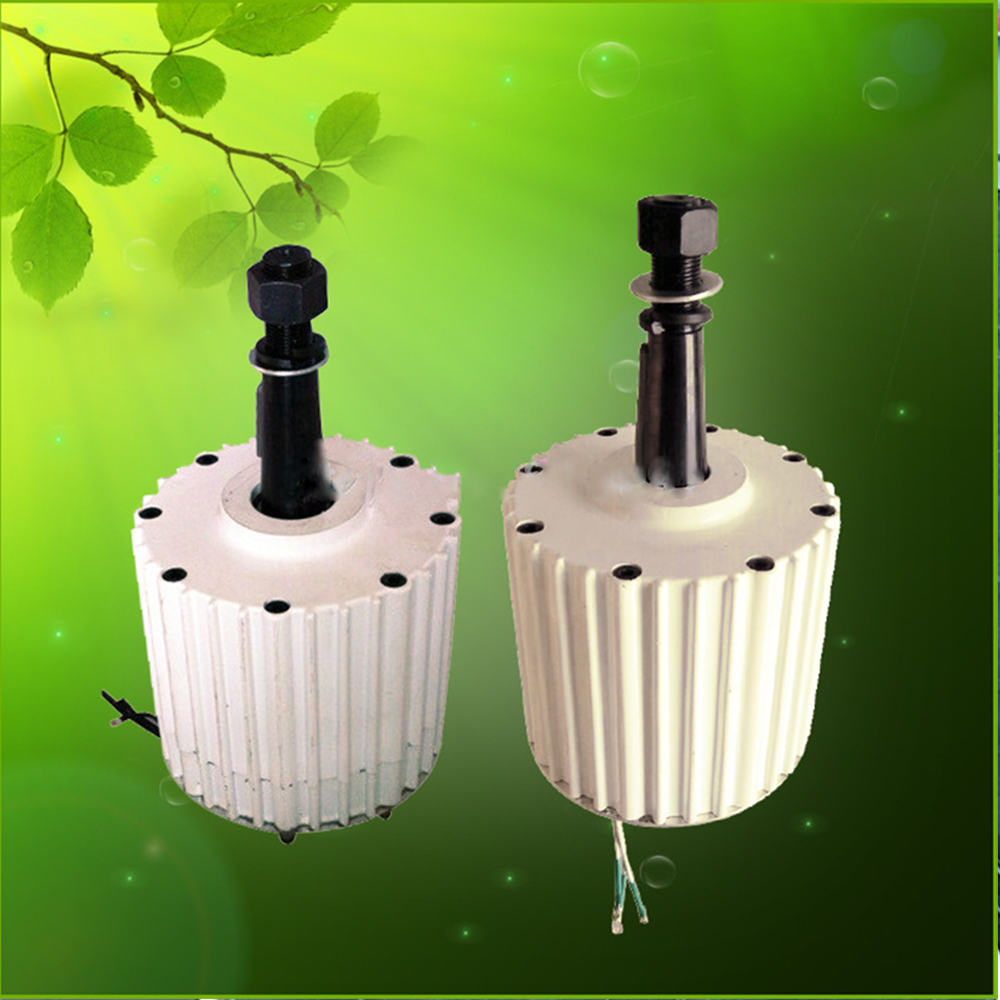 SMARAAD 1KW/1000W 2KW/2000W Low Start Torque AC Low Rpm Permanent Magnet Generator 48v 96v 110v 120v 220v Wind Turbine Generator
