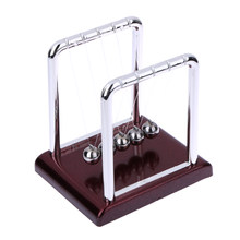 Newtons Cradle Steel Balance Ball Physics Science Pendulum Decoration Craft Early Fun Development Educational Desk Toys Gift