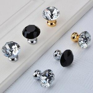 Image 3 - ダイヤモンドクリアクリスタルガラス引き出しキャビネット家具アクセサリーハンドルつまみねじ世界