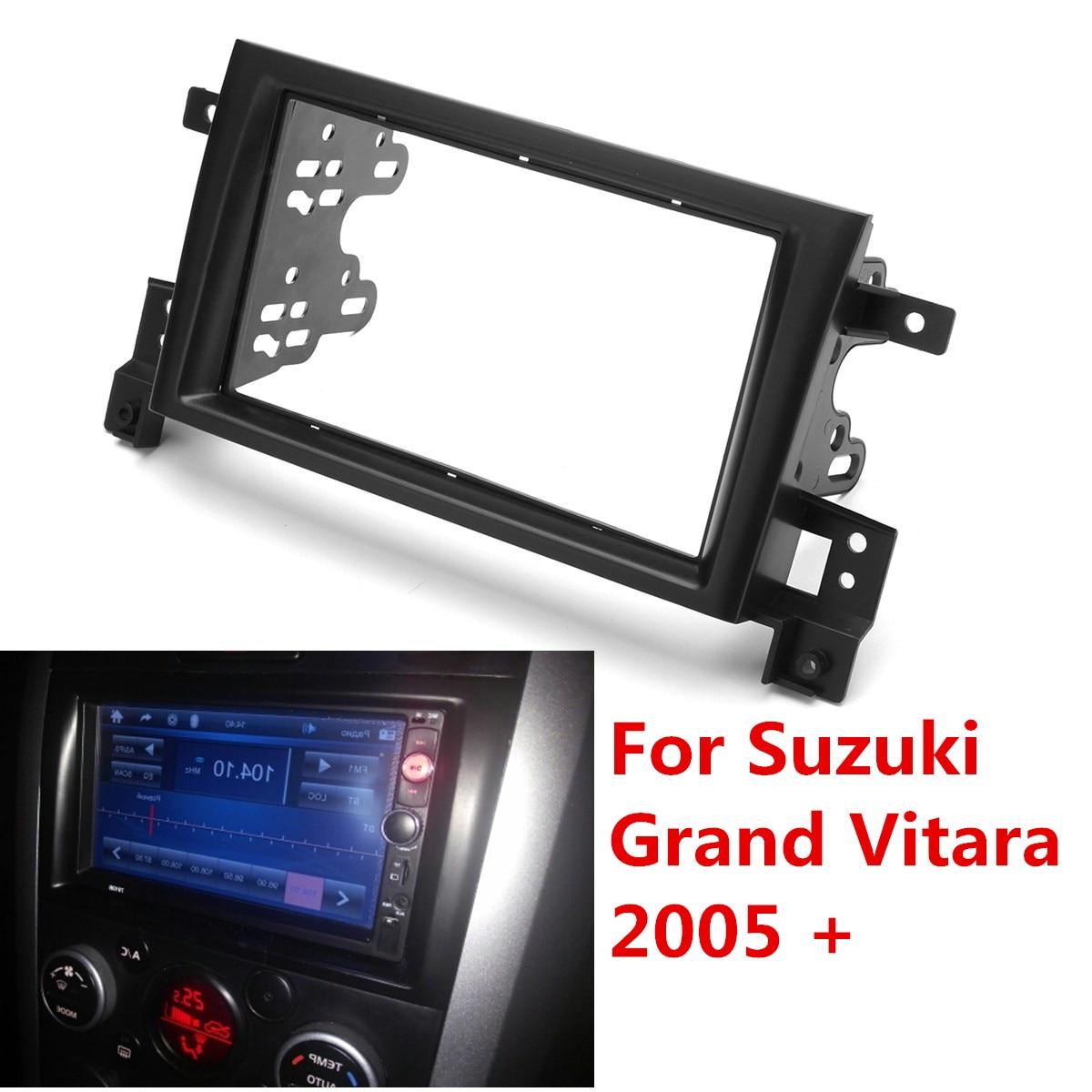 2 Din Car Interior Radio Fascia Fascias Panel Frame CD DVD Dash Audio Cover For Suzuki Grand Vitara 2005 2006 2007 2008 - 2018
