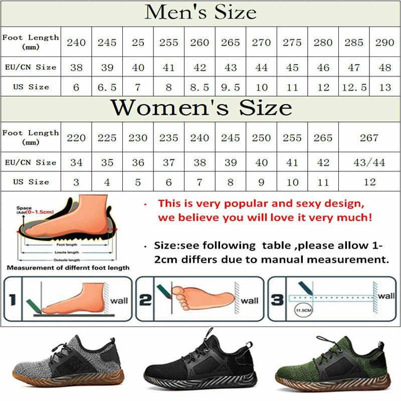 Dropshipping Onverwoestbaar Ryder Schoenen Man En Vrouw Stalen Neus Veiligheid Laarzen Air Naalddichte Ademend Werk Sneakers Schoenen