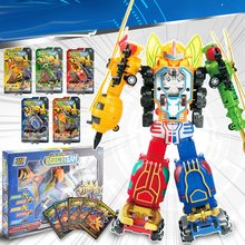 Children'S Robot Deformation Fit Toy Educational Toy Model Plastic Pull Back Function Exquisite Appearance beast king kong 5 in 1 deformation of robot five toy boy gift fit model page 8