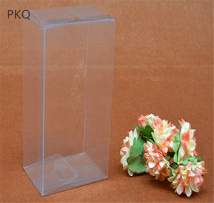 20 Pcs 7 sizes Rectangle Transparent Box Clear Gift Packaging Box Large PVC Boxes for Toys/Dolls Christmas Party Supplies
