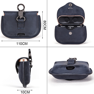 Image 3 - Luxury Bag For SONY AirPods Bluetooth Wireless Earphone Leather Case Cover For Sony WF 1000XM3 Funda Cover Charging Box Cases