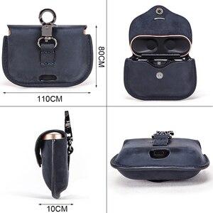 Image 3 - Роскошная сумка для SONY AirPods, Bluetooth, беспроводные наушники, кожаный чехол, чехол для Sony, чехол, чехол для зарядного устройства, чехол s