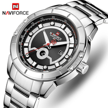 цены NAVIFORCE Top Brand New Luxury Men Watch Male Fashion Business Watches Casual Date and Week Display Wristwatch Relogio Masculino