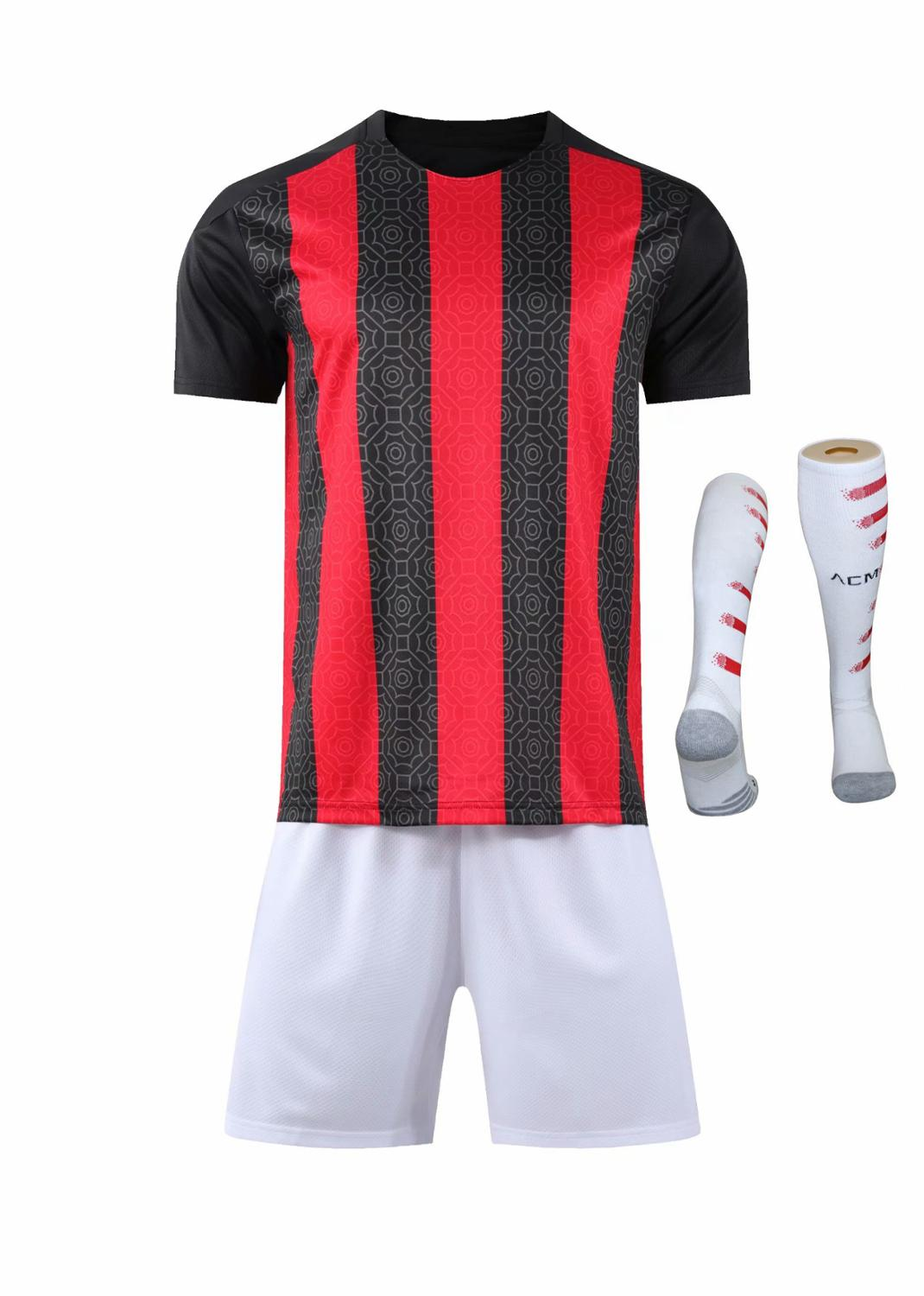 Children Sets football uniforms boys and girls sports kids youth training suits blank custom print soccer set with socks 37