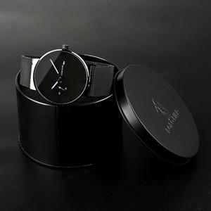 Image 5 - ボボ鳥レロジオ masculino 超薄型カスタマイズ名メンズ腕時計ステンレススチール日付表示彫刻テキスト腕時計彼のために