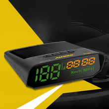 Автомобильный GPS-датчик скорости AUTOOL X100, HUD-датчик с солнечной зарядкой, показывает высоту автомобиля, мотоцикла, лодки