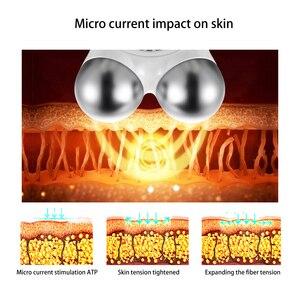 Image 3 - Masażer twarzy Lifting twarzy urządzenie mikroprądowe napinanie skóry odmładzanie Roller wibrator przeciw zmarszczkom V narzędzie do pielęgnacji skóry twarzy