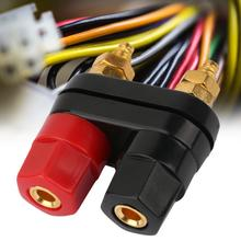 цена на 10pcs 4mm Banana Plug  Gold Plated Speaker Binding Post Amplifier Terminal Dual 2-Way Couple Terminals Red Black strip connector