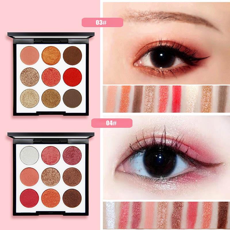 Eyeshadow Palette Glitter Matte Earth Color Makeup Waterproof Eye Powder Tool YUF99