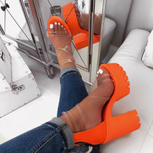 2020 Summer Women Gladiator Sandals Platform Square High Hee