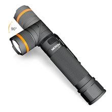 Nicron 1200lm recarregável led lanterna ímã handfree 90 graus ultra alto brilho à prova dwaterproof água canto conduziu a luz da tocha b70