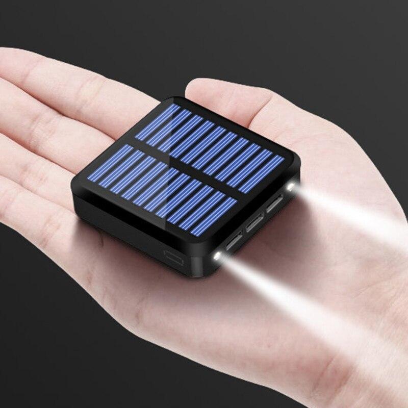 mini banco de energia solar portatil 10000 mah pequena energia movel conveniente para o telefone 831f