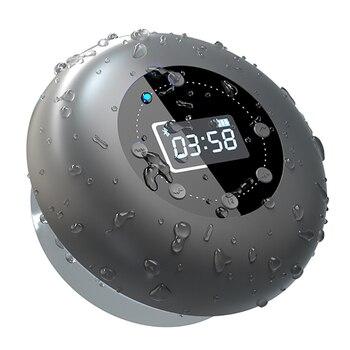 Waterproof Bluetooth Shower Speaker Wireless Portable Bluetooth Speakers with FM Radio Suction Cup Bass LCD Display Loudspeaker
