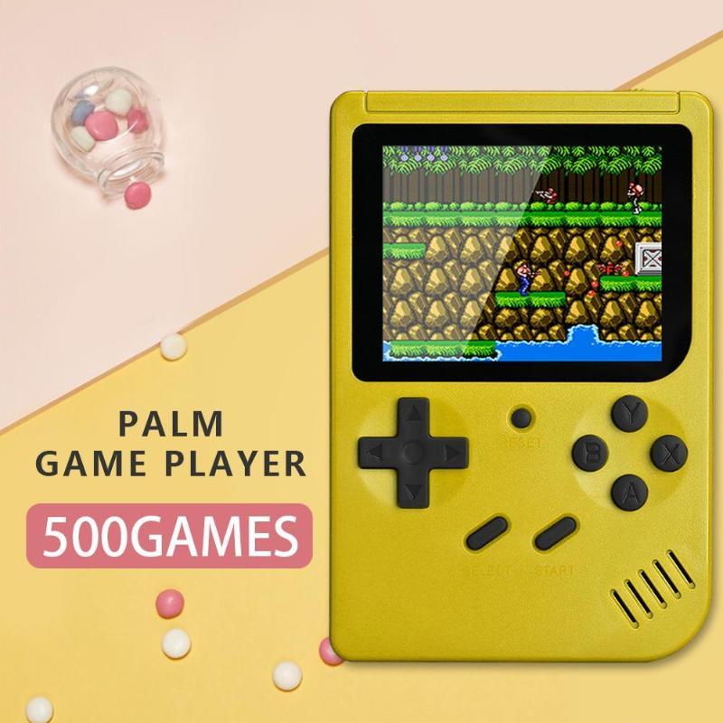 Q3 3,0 pulgadas pantalla a Color consola Retro integrada 500 juegos AV Out consola de vídeo portátil de mano reproductor de juegos para niños Juego de cartas de póquer de plástico resistente al agua de Texas Holdem
