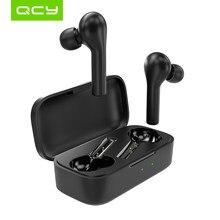 Qcy t5pro carregamento sem fio bluetooth 5.0 fones de ouvido esportes correndo fones com personalização app