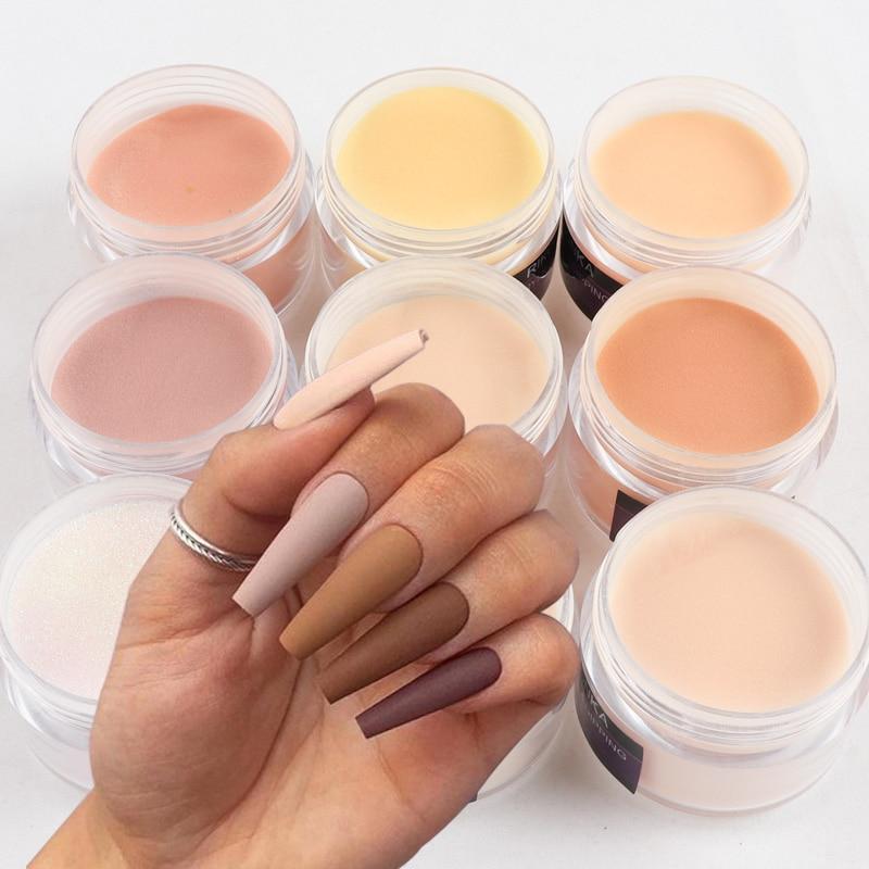 15 g/boîte couleur claire acrylique poudre ongles Sculpture poudre bricolage manucure décoration modélisation conception Pigment ongles Extension poussière