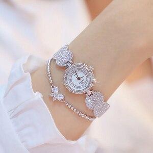 Image 5 - Relógios femininos moda ouro senhoras diamante pulseira de aço inoxidável relógios de pulso para menina novo relógio de quartzo retro zegarki meskie