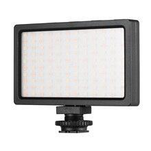 מצלמה LED וידאו אור לוח 3200K 5600K Dimmable מנורת מתכוונן בהירות פלאש אור עם קר נעל הר צילום סטודיו