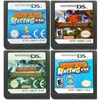 Cartucho de console de jogos ds, cartucho de jogos diddy kong racing dk selva climber, idioma inglês para nintendo ds 3ds 2ds