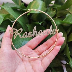 Image 1 - DODOAI Name Hoop Earrings, Custom Hoop Earring, Any Name Available,Personalized Earrings, Gold Letter Name Earrings for Women