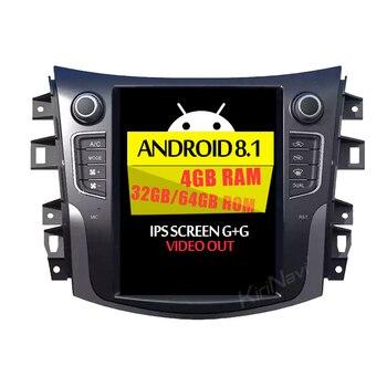 "KiriNavi Vertical Screen Tesla Style 10.4"" Android 8.1 Car Radio DVD Player For NISSAN NAVARA NP300 Audio GPS Navigation 2017+"