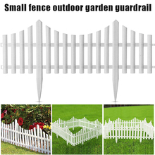 New White Plastic Fence for Courtyard or Outdoor Garden Christmas Decorations VJ-Drop