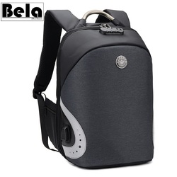 BelaBolso USB Charging 15.6 inch Laptop Backpack Man Travel Bags Backpack For Teenage Anti Theft Backpack Waterproof Male HMB695
