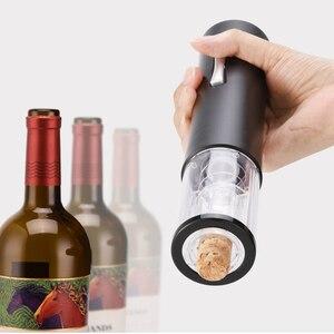 Image 2 - Nouvel ouvre bouteille automatique pour coupe papier de vin rouge ouvre bouteilles de vin rouge électrique ouvre bocal accessoires de cuisine ouvre bouteille électrique avec coupe capsule pour bouteille de vin