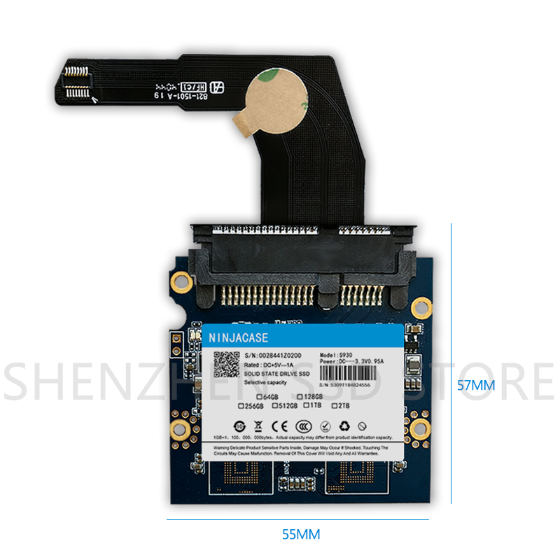 New 128GB - 2TB SSD for Mac 2012 Mini A1347 with converter plus tool  Add a second SSD and hard disk cable MD387 MD388 MC815 816-2
