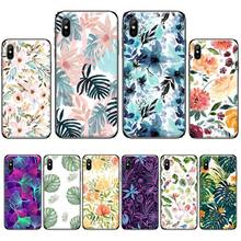 Funda leaf flower Customer High Quality Phone Case For iphone 4 4s 5 5s 5c se 6 6s 7 8 plus x xs xr 11 pro max nand pro box ip nand pro for iphone 4 4s 5 5c 5s 6 6p supported for ipad 2 3 4 5 6 supported