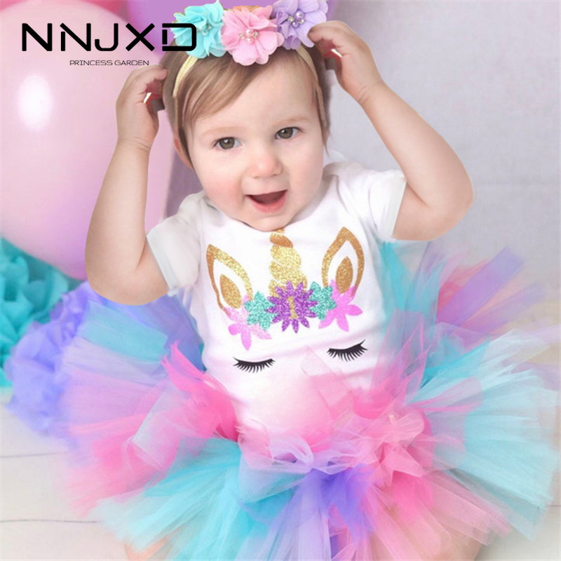 New Cotton Baby Girl First 1st Birthday Party Tutu Dresses For Vestidos Infantil Princess Clothes 1 Year Girls Children S Wear Dress For Dress Dress Dress1st Birthday Party Dress Aliexpress