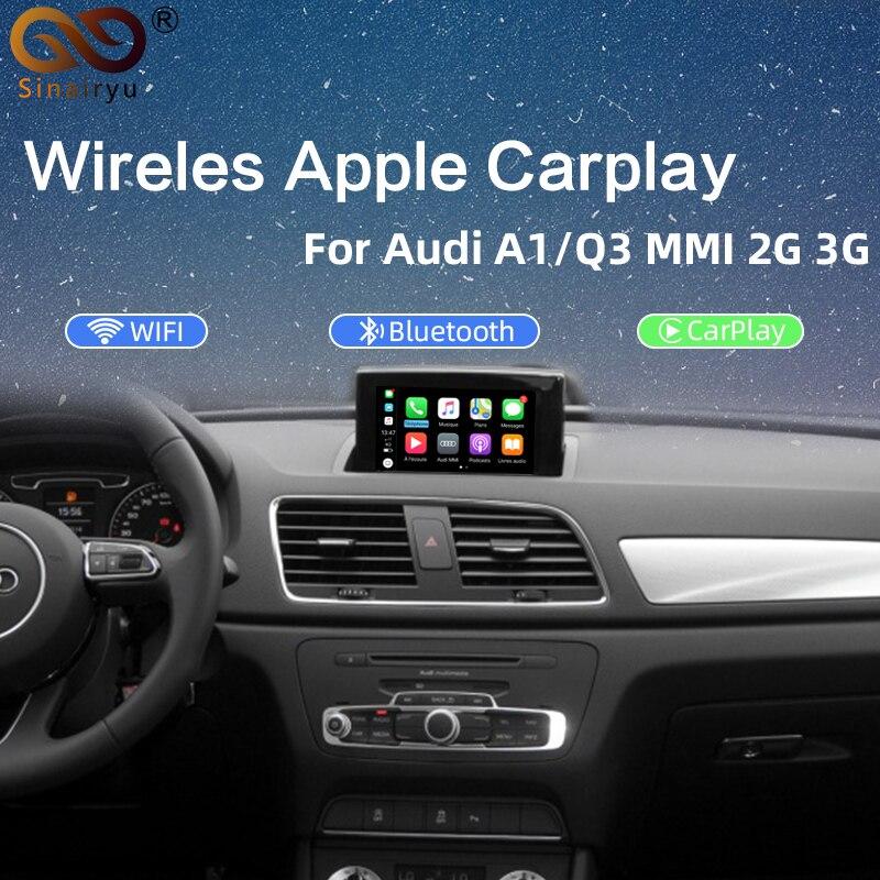 Беспроводной/проводной декодер Apple Carplay 2020, для Audi A1 Q3 MMI 2013 2019, muItimedia interface CarPlay, Android, авто Модернизированный комплект