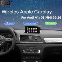2020 Wireless/Wired Apple Carplay Decoder for Audi A1 Q3 MMI 2013 2019 muItimedia interface CarPlay Android auto Retrofit Kit