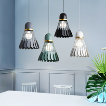 Badminton LED Iron Pendant Lights E27 Bedroom Interior Lighting Fixtures Restaurant Cafe Hanging Lamp Living Room Pendant Lamp
