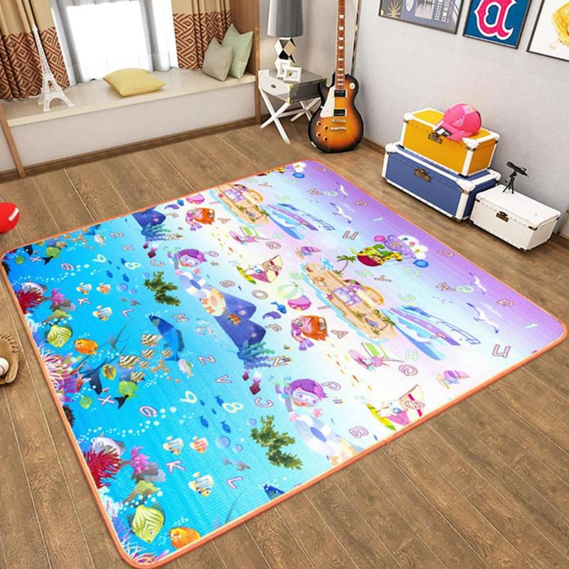 Newborn Play Mat Safety Moistureproof Crawling Play Pad Thickened Blanket Game Cushion Infants Learn Crawing Walking Carpet