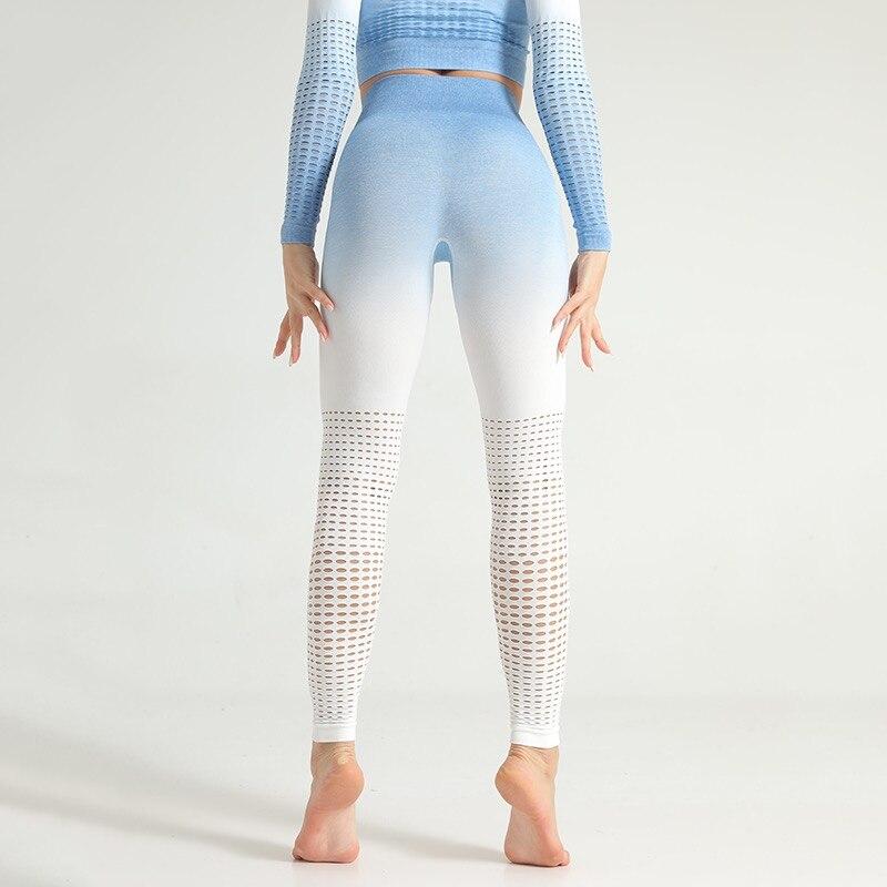 Kaminsky Ombre Seamless Leggings Push Up Fashion Pants High Waist Workout Jogging For Women Athleisure Training Leggings