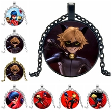 2019 New Anime Cartoon Character Red Classic Necklace Pendant Round Convex Glass Cute Avatar