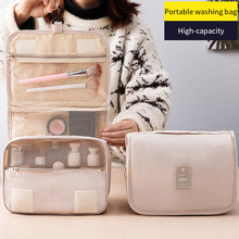 Women's Cosmetic Bag Travel Makeup Bag Toiletries Hanging Organizer For Cosmetics Waterproof Storage Bathroom Wash Bag