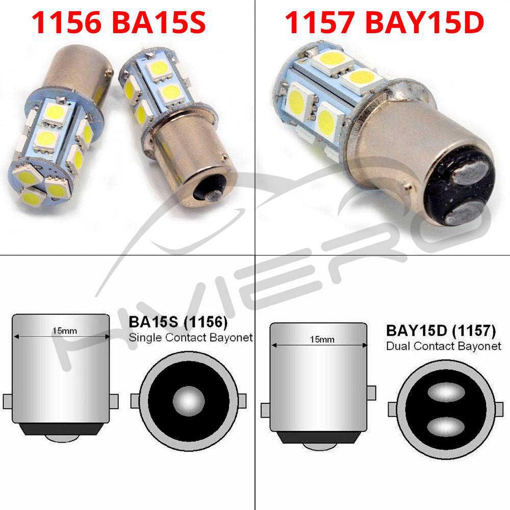 1156 BA15S 1157 BAY15D P21W BA15D 13Led matrícula coche Led intermitente luces de señal de estacionamiento luces traseras de freno Auto trasero bombilla de marcha atrás