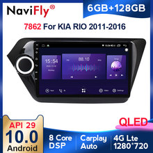 6G + 128G QLED 4G LTE Android 10 Auto Radio Multimedia Video Player Navigation GPS Für KIA RIO 3 2011-2016 rio limousine 2 din radio